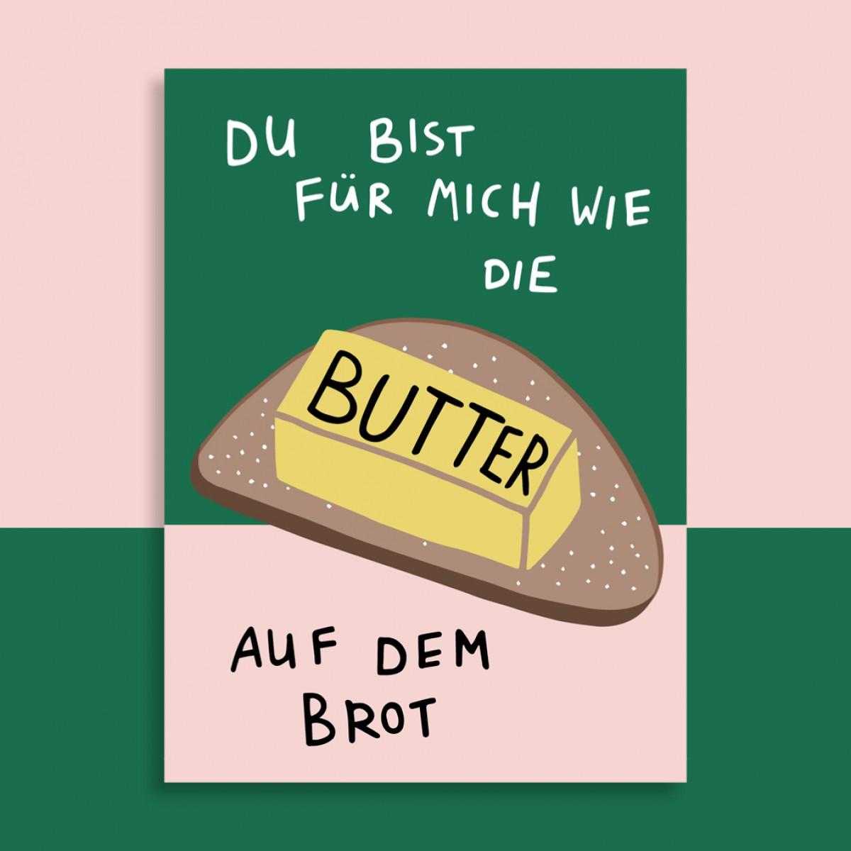 Family Tree Shop / Postkarte / Die Butter auf dem Brot