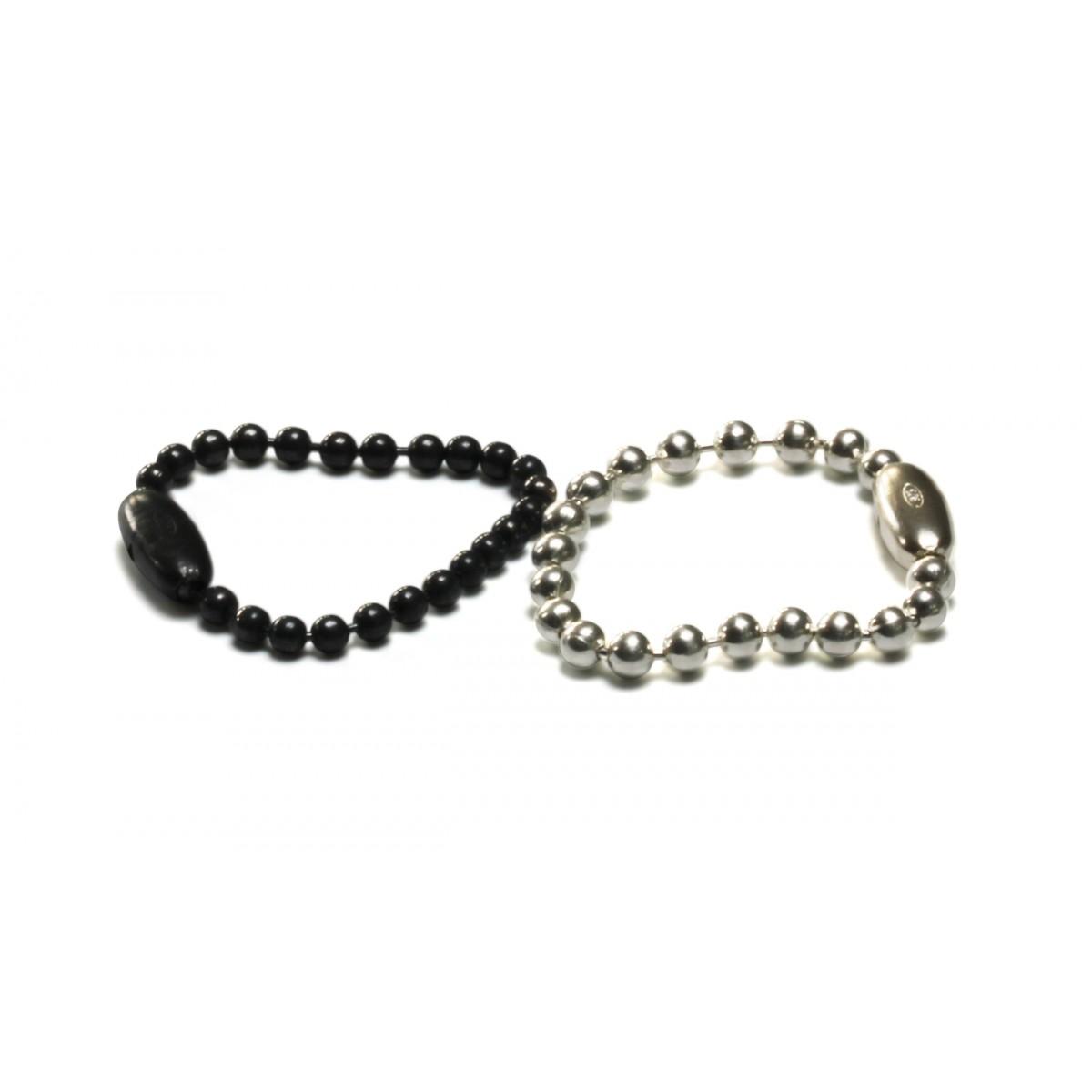 Kugelketten Ring fein in Silber oder Silber geschwärzt