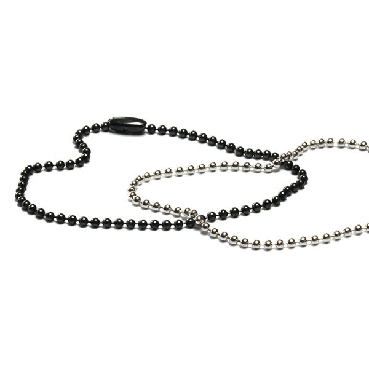 Kugelketten Armband fein in Silber oder Silber geschwärzt