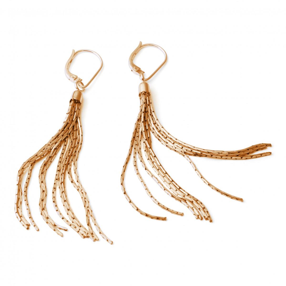 Quasten / Tassel Ohrringe Rotgold oder Gold