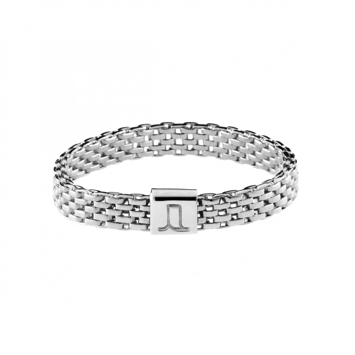 Jasmina Jovy Jewellery Decode! Mesh Ring RIDC00 fine silver plated