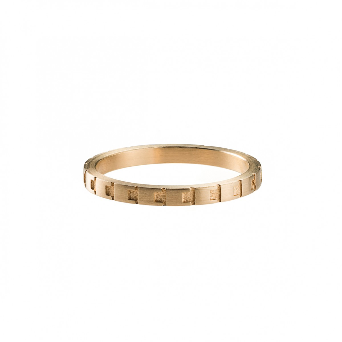 Jasmina Jovy Jewellery Decode! Ring RIDC02 gold