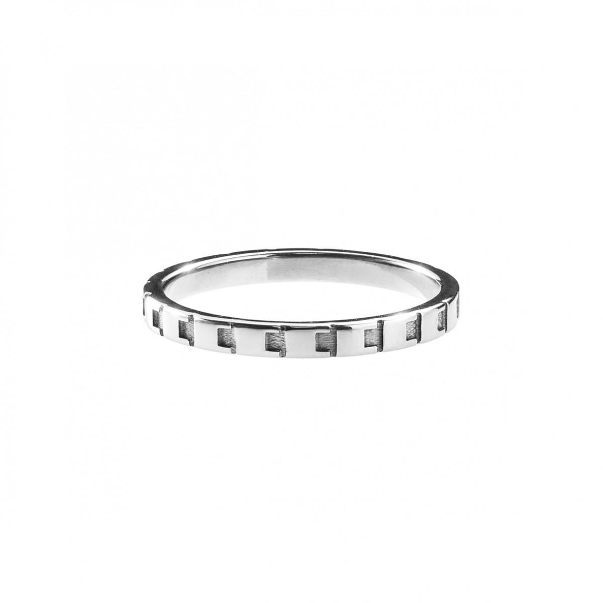 Jasmina Jovy Jewellery Decode! Ring RIDC02 silver