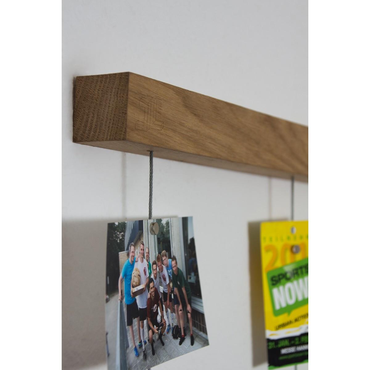 JL-Holz Fotowand groß (Eiche unbehandelt)