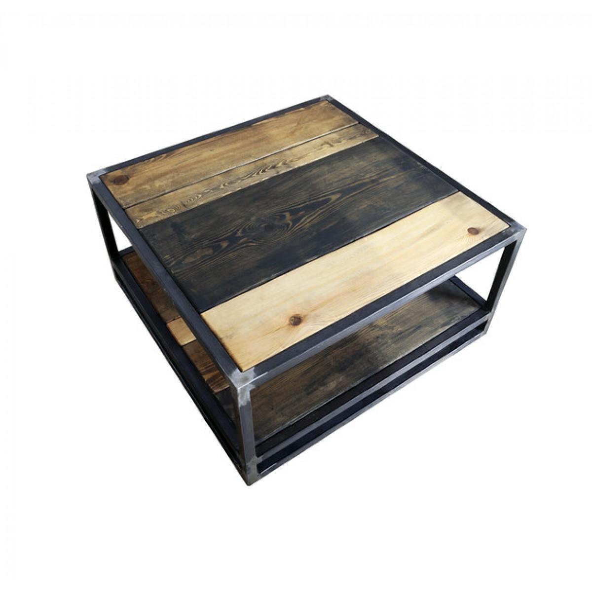 FraaiBerlin – Couchtisch aus Bauholz und Eisen Jeroen