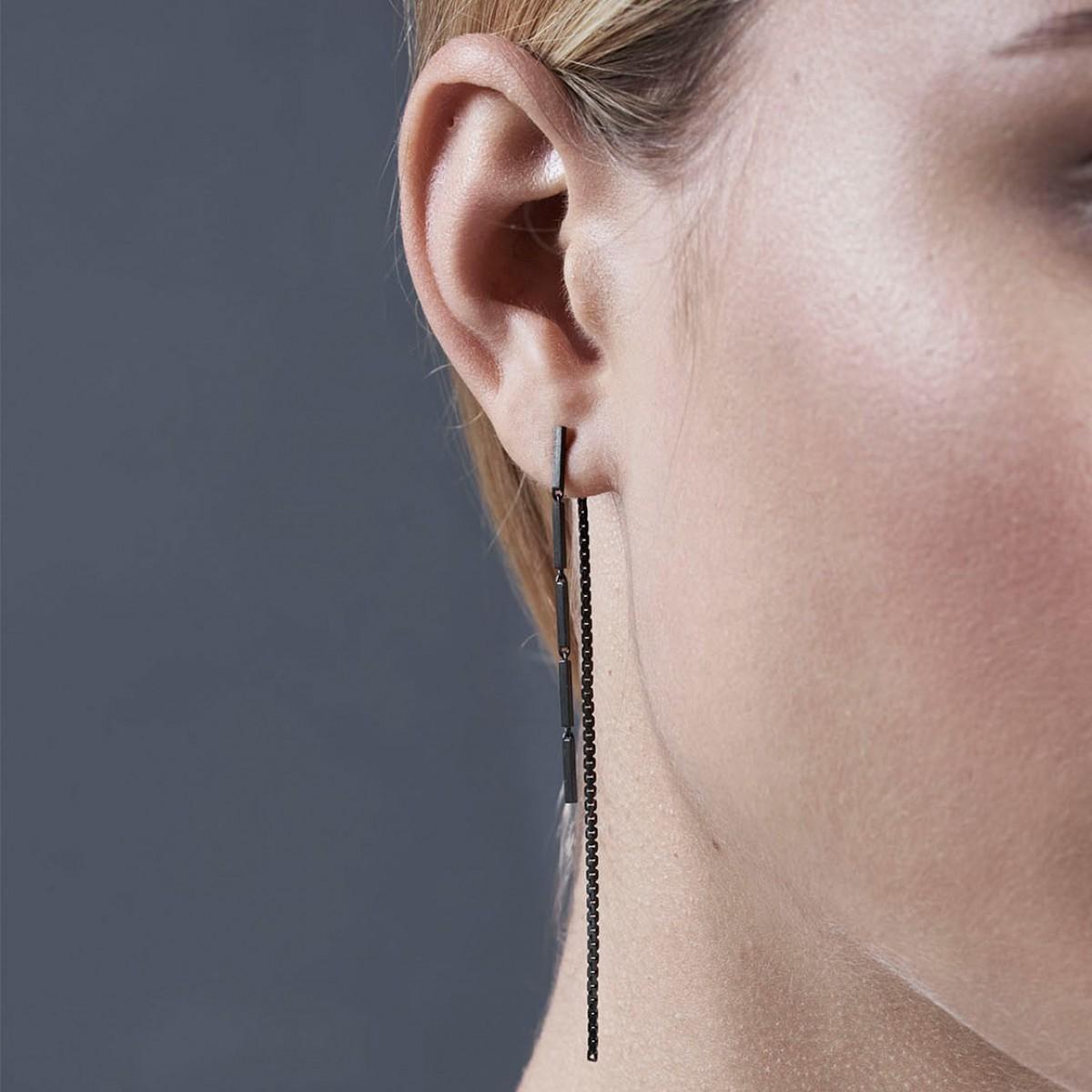 Jasmina Jovy Jewellery Hidden Faces Ohrringe EAHF01 black rhodium