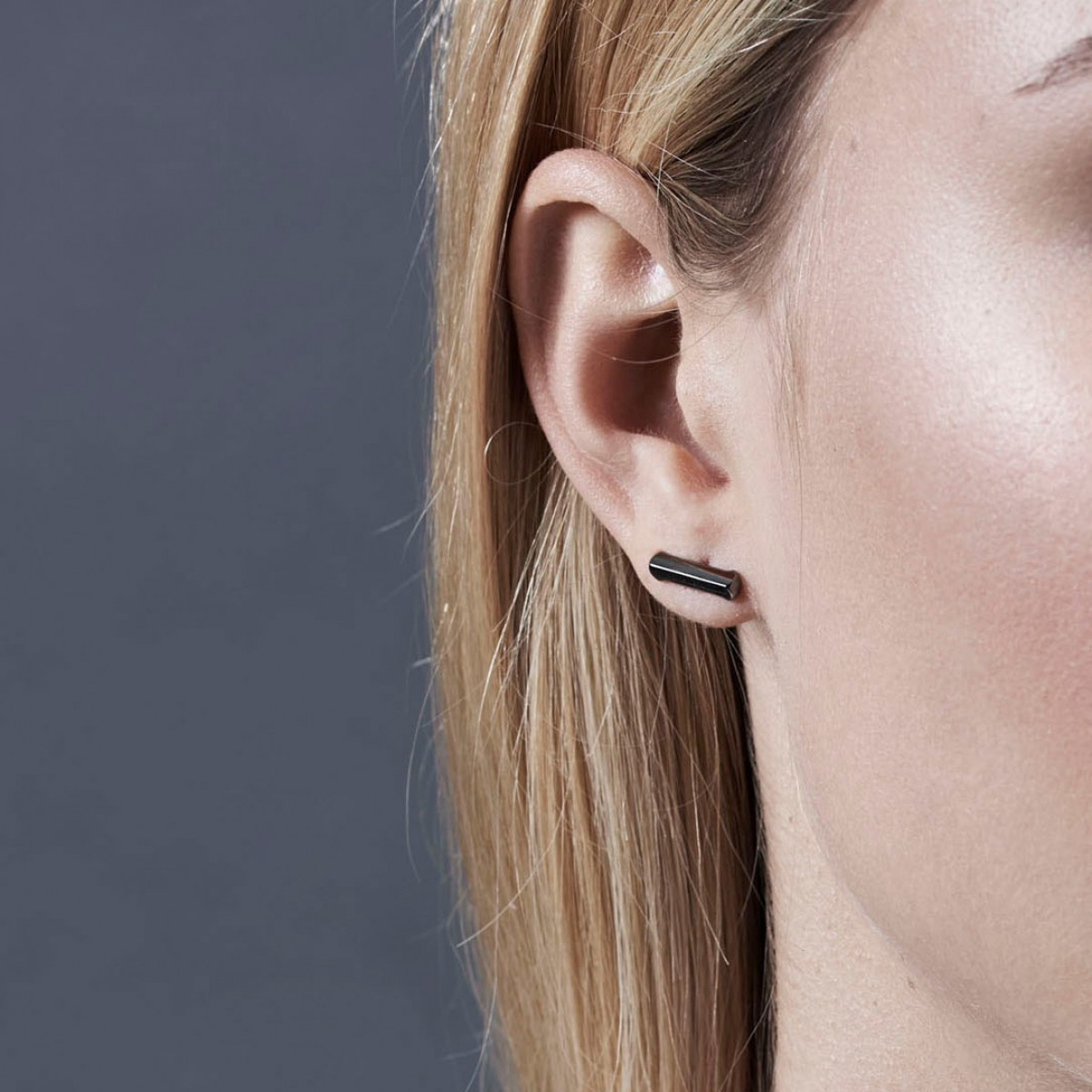 Jasmina Jovy Jewellery Hidden Faces Ohrringe EAHF02 black rhodium