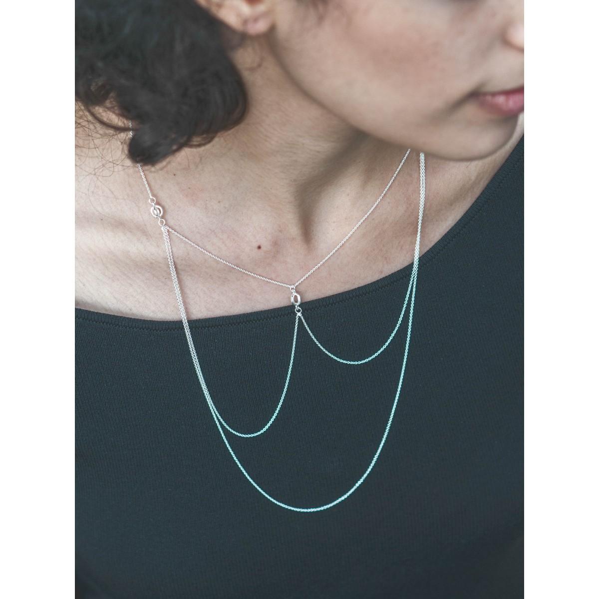 Jonathan Radetz Jewellery, Kette KISSKISS COLLIER, Länge 63 cm, Silber 925