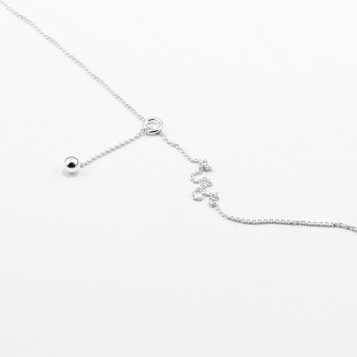 Jonathan Radetz Jewellery, Kette SPHERE, Länge 55cm, Silber 925