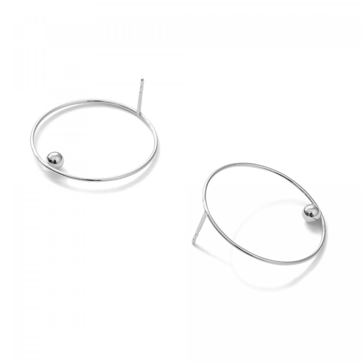 Jonathan Radetz Jewellery, Stecker EFFECT 30, Silber 925, Sterlingsilber, Durchmesser 30 mm, Handmade in Germany