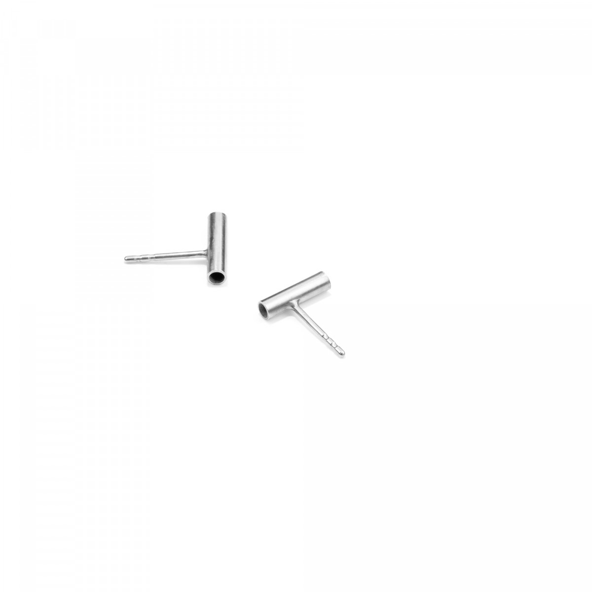 Stecker PROFILE, Silber 925, Jonathan Radetz Jewellery, Sterlingsilber, Länge 10 mm, Handmade in Germany