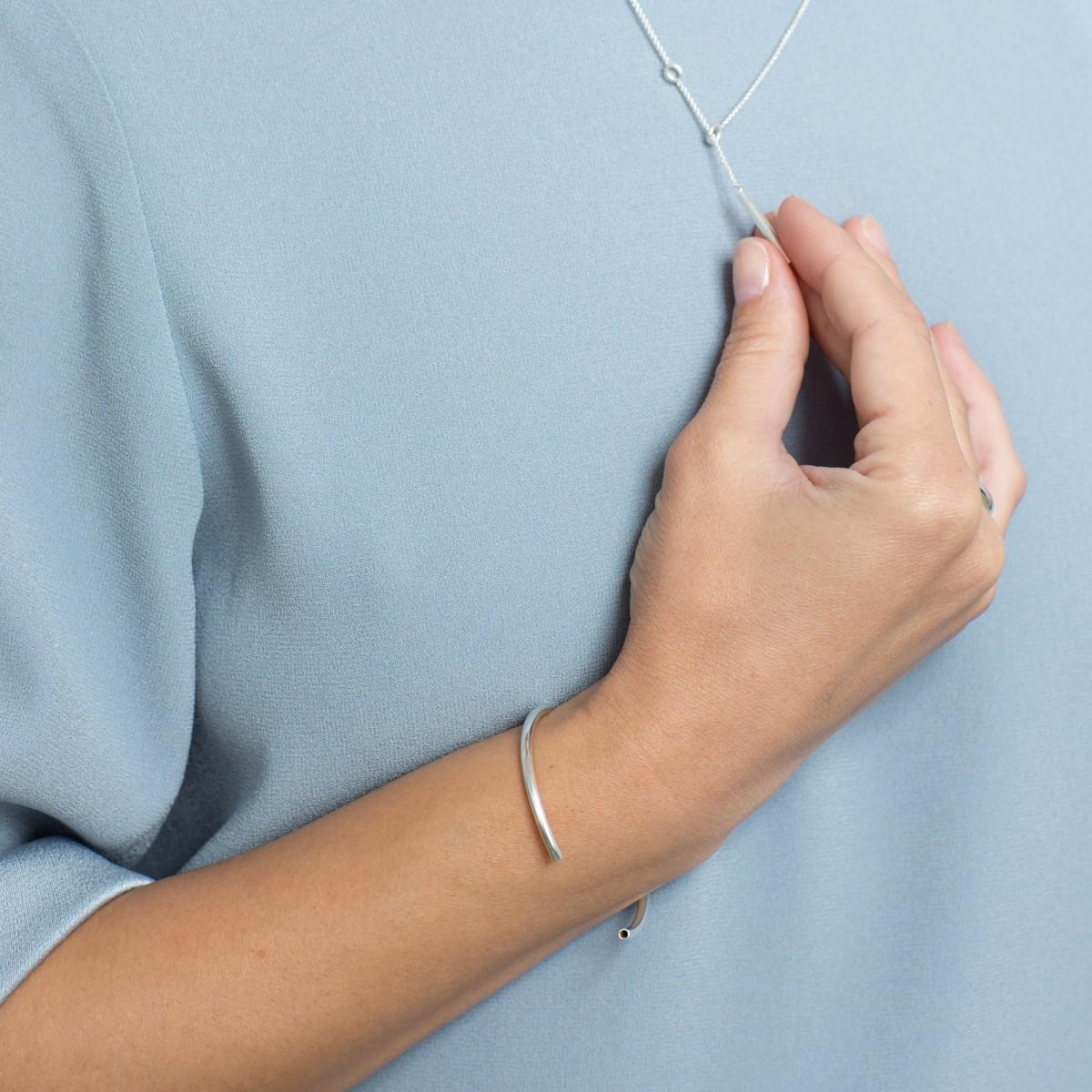 Jonathan Radetz Armreif Profile, Silber 925, Sterlingsilber, one Size, anpassbar, Handmade in Germany