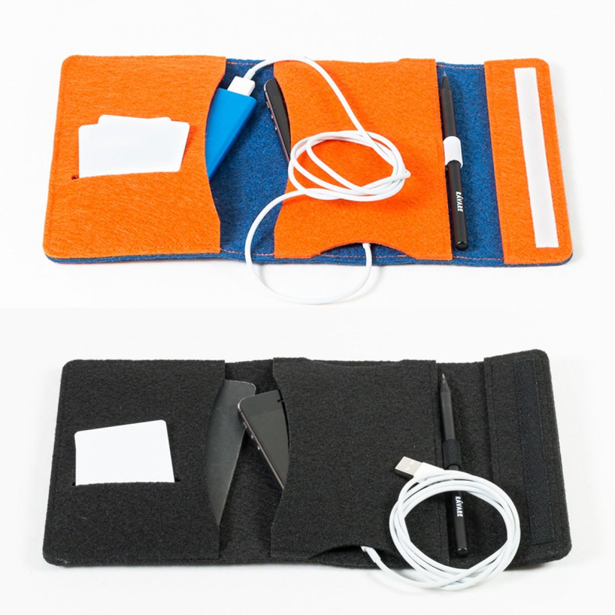 RÅVARE Smartphone Etui Reiseetui für Reisepass kleiner Organizer Etui in verschiedenen Farben [JONKO]