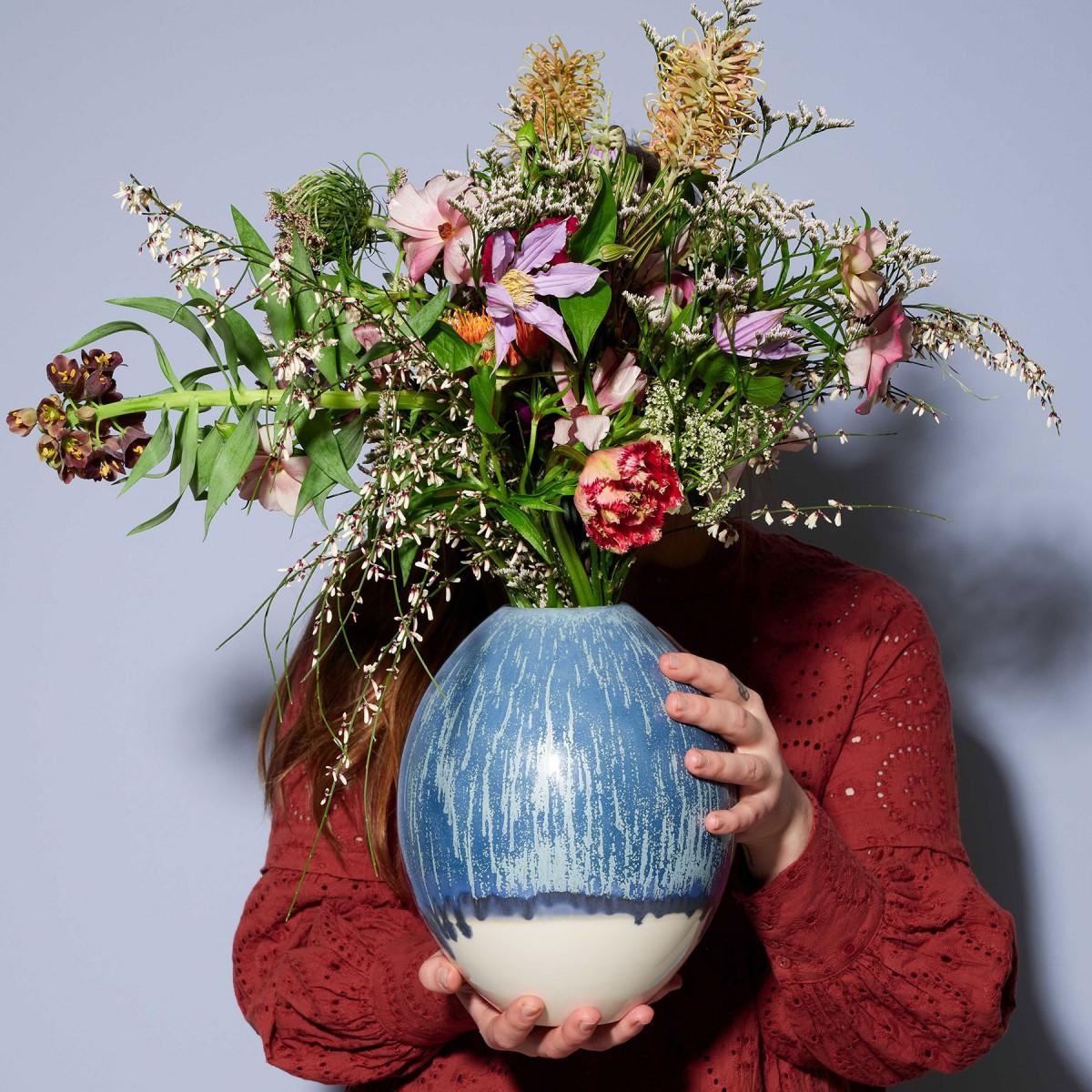 mused - Vase Jonna - oceanblue