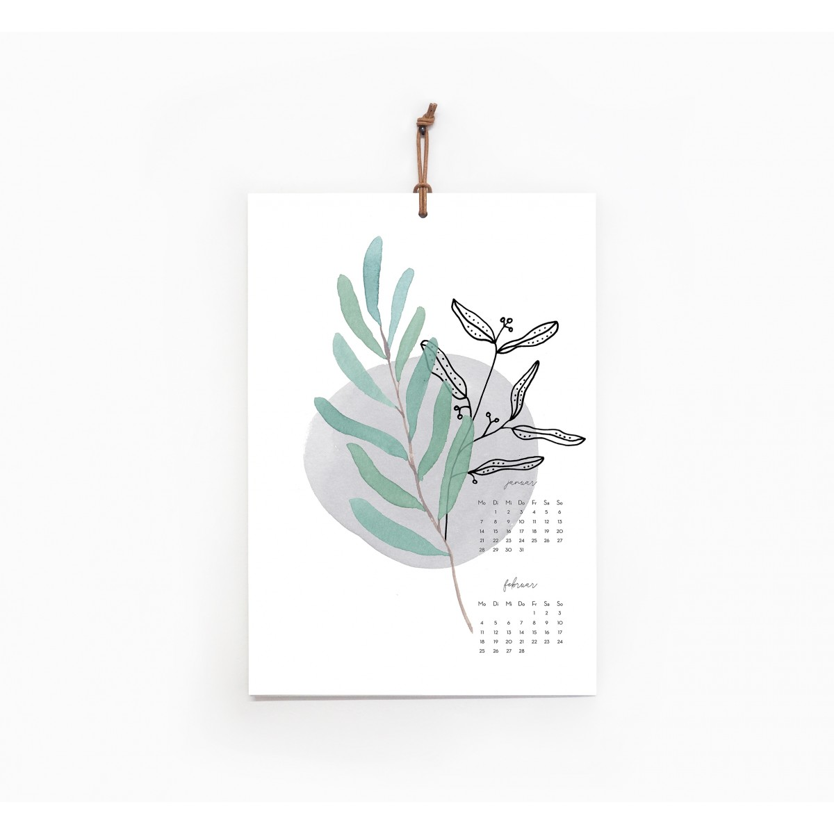 Kruth Design KALENDER 2020 / BOTANICAL