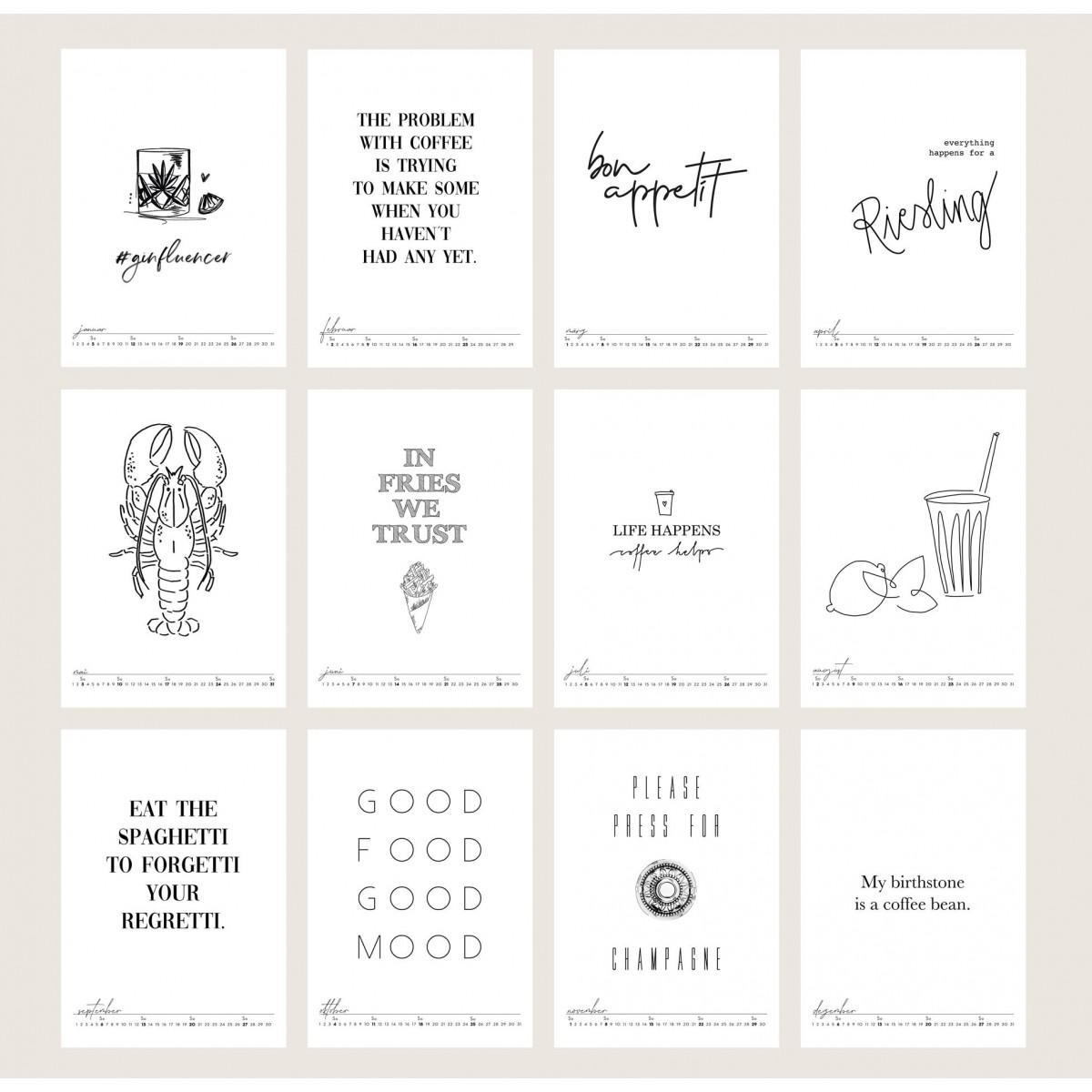 Kruth Design KALENDER 2020 / KITCHEN