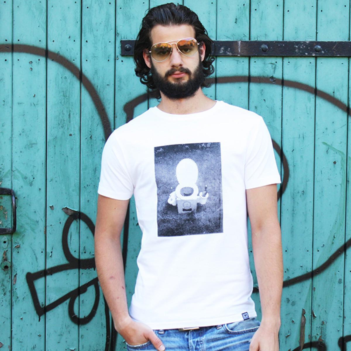 "KINDERGELD ORGANIC Mens Roll Sleeve T-Shirt ""JAN"""