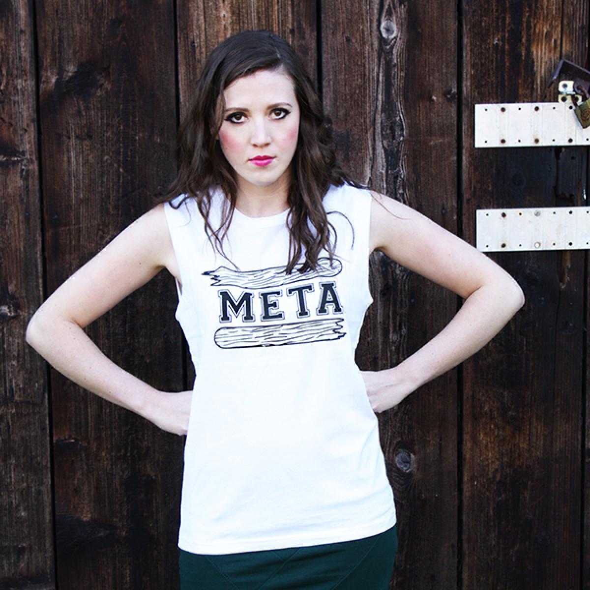 """KINDERGELD ORGANIC Womens Raw Tank """"BERND"""" (META) weiß"""