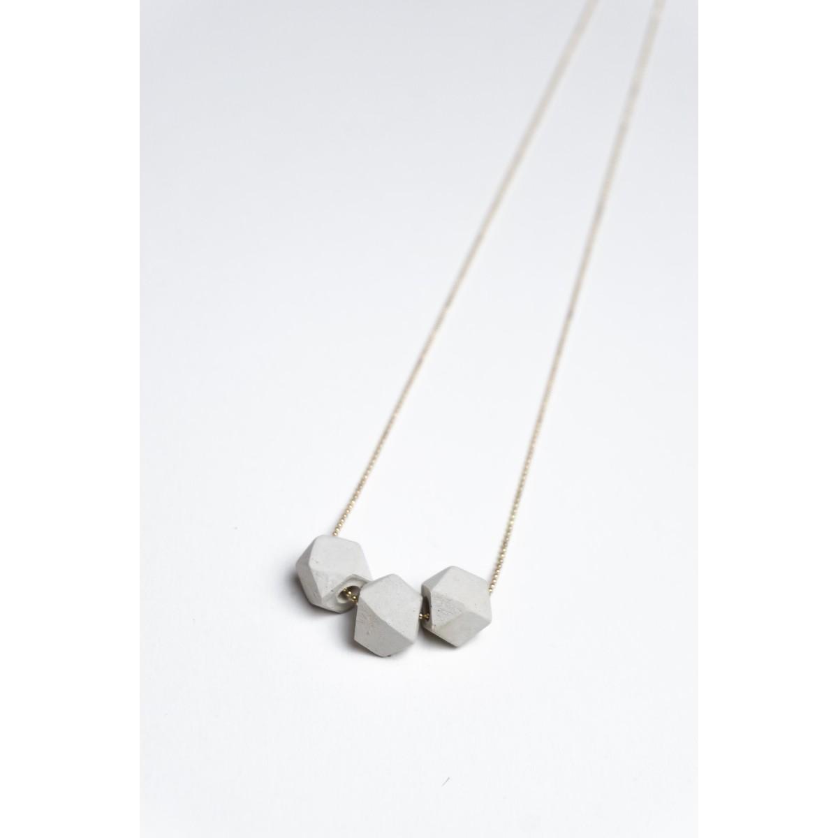 Klunkergrau Betonschmuck | 3x Geometrische Perle aus Beton