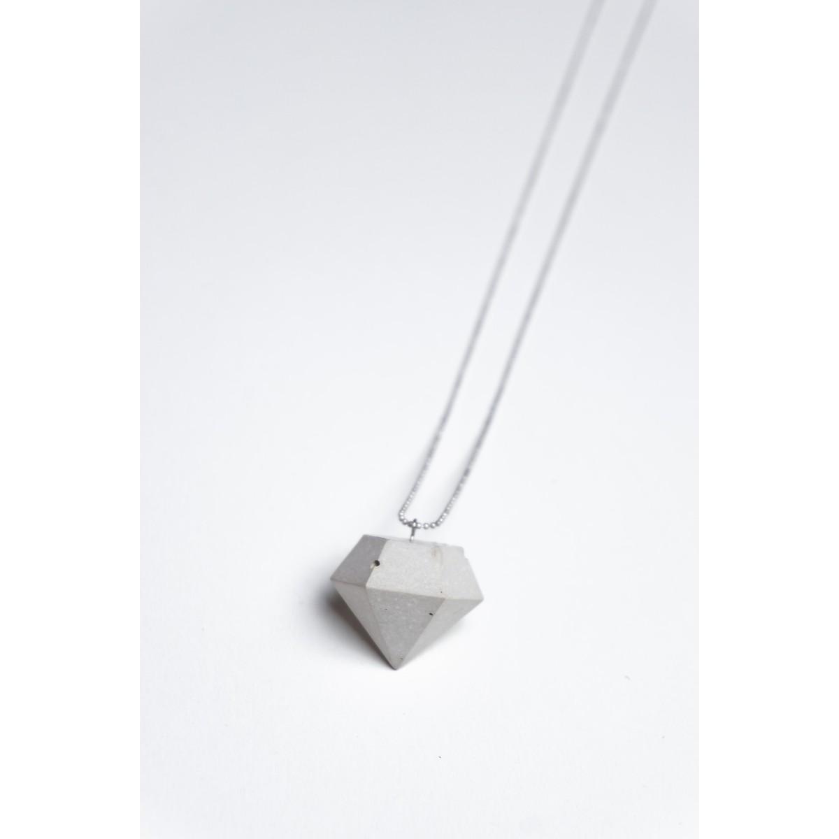 Klunkergrau Betonschmuck | Dicker Klunker - Diamant aus Beton