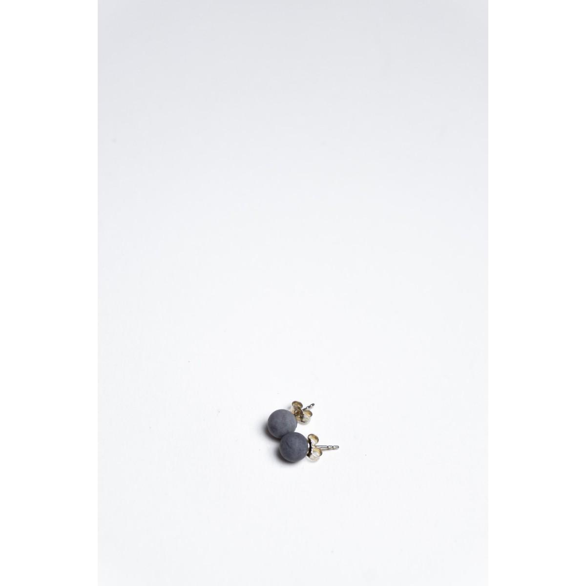 Klunkergrau | Perlenohrringe aus Beton