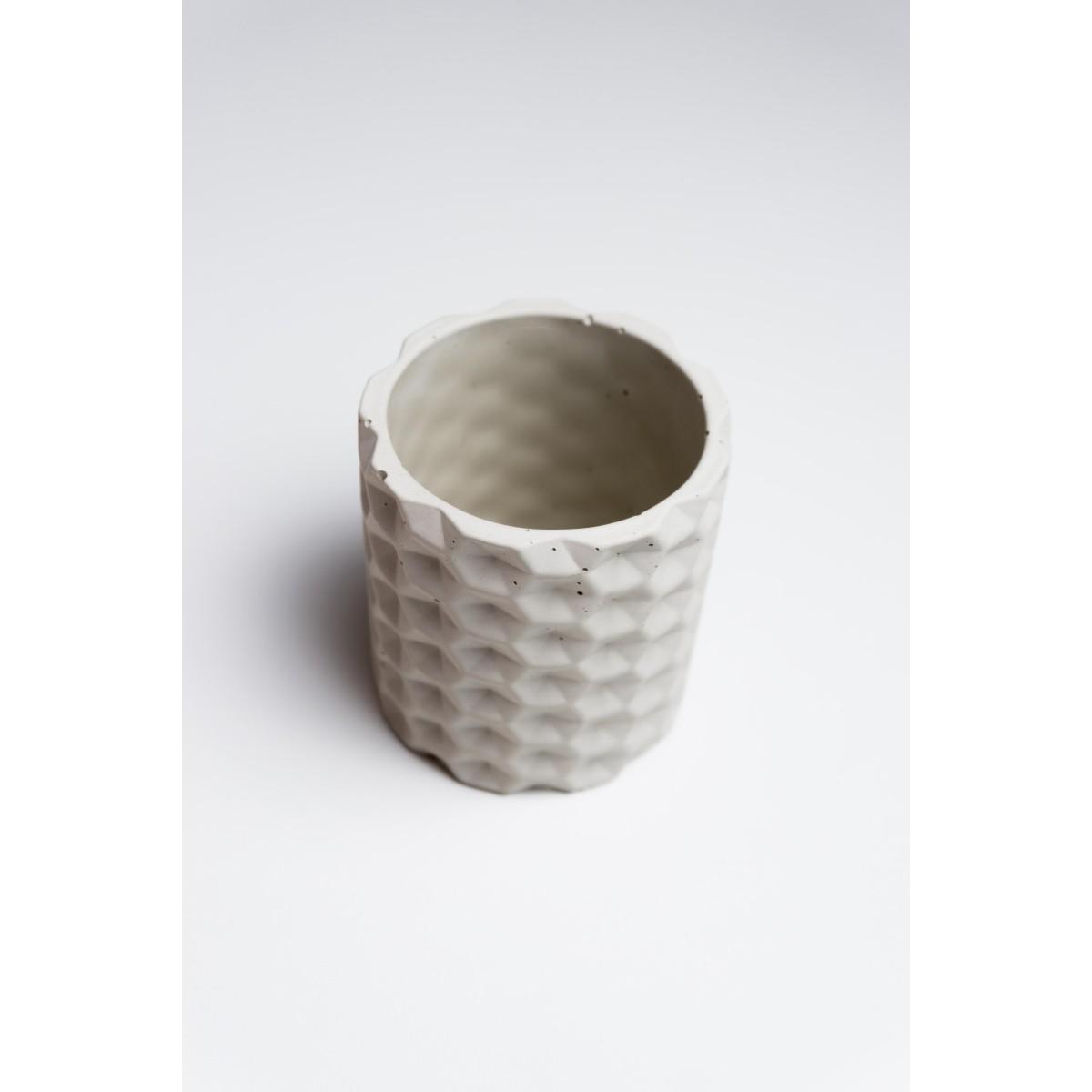 Klunkergrau Interior | Gemusteter Übertopf / Behälter aus Beton