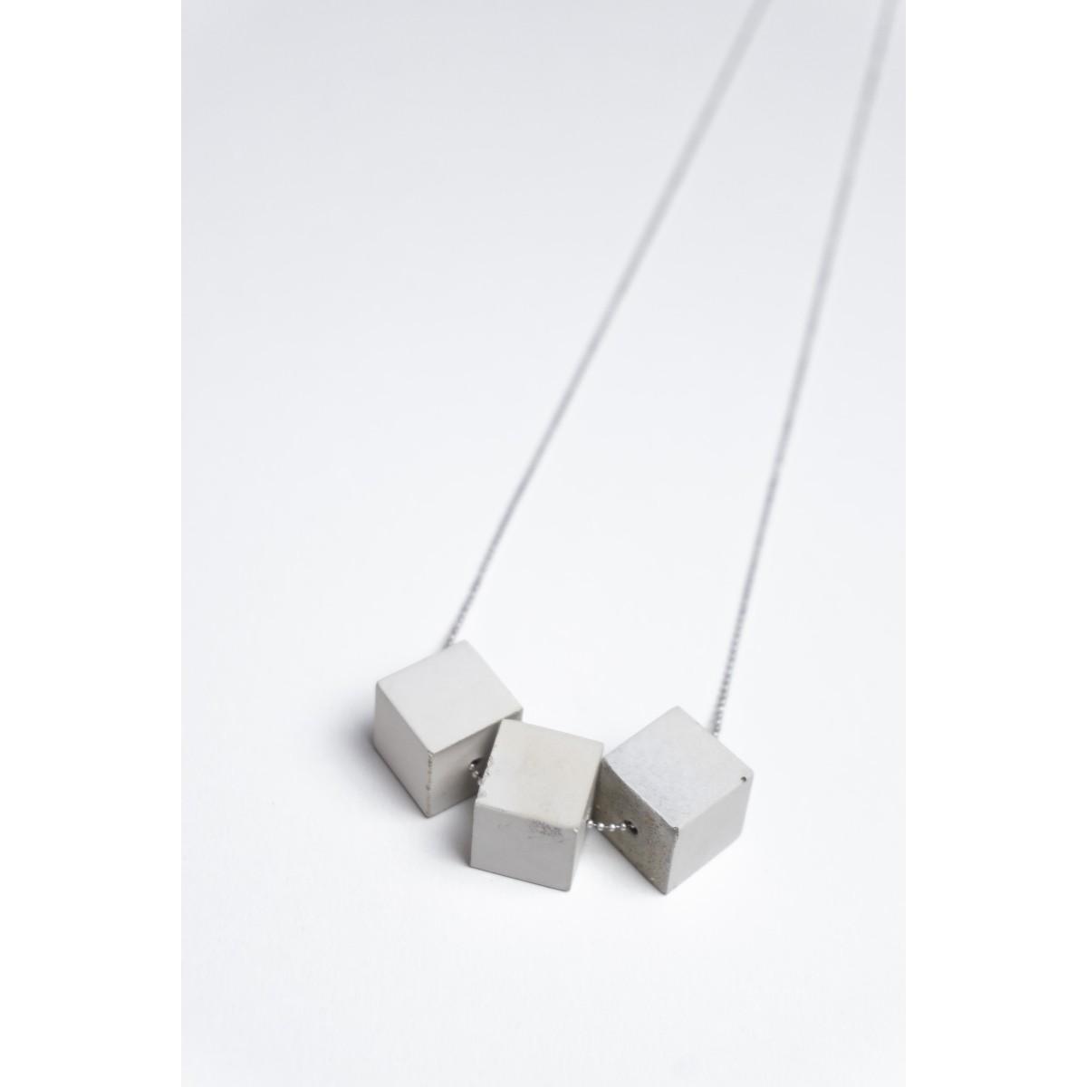 Klunkergrau Betonschmuck | 3x Großer Würfel aus Beton
