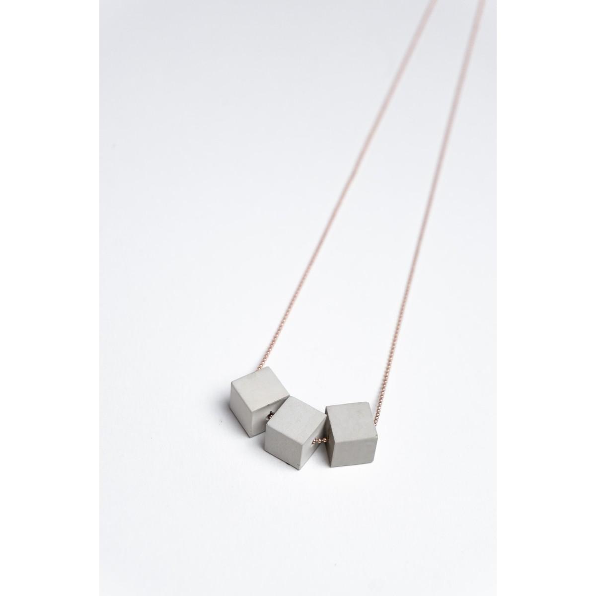 Klunkergrau Betonschmuck | 3x Kleiner Würfel aus Beton