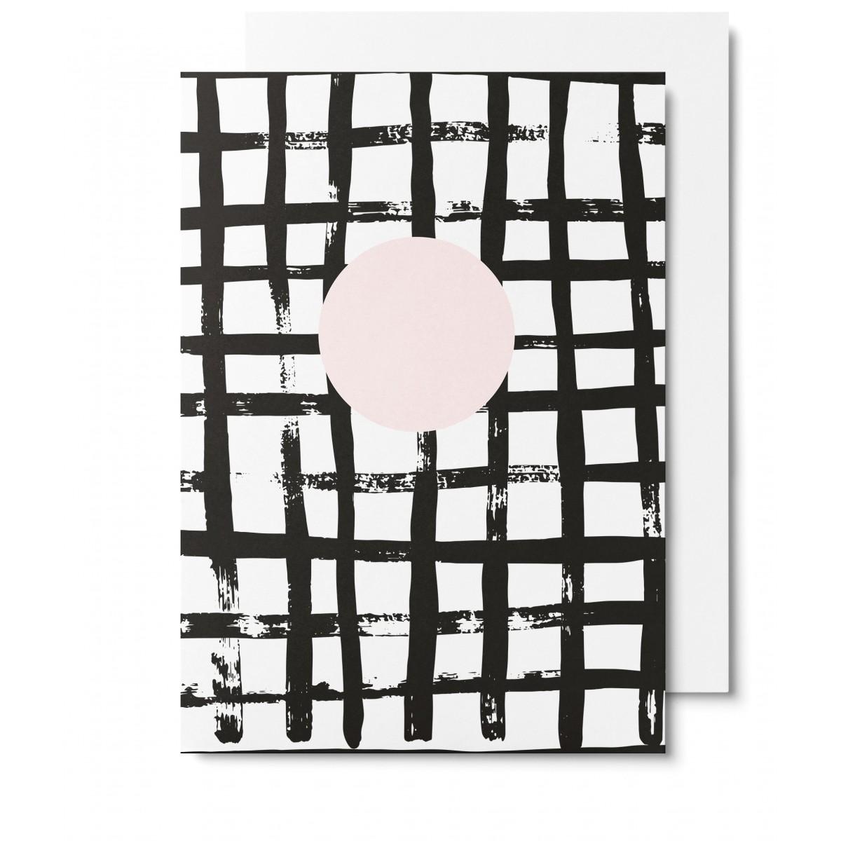 UNTER PINIEN Waffel - Klappkarte mit Umschlag