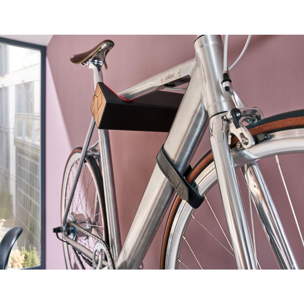 Lederband zur Vorderrad-Fixierung | PARAX® D-STRAP | Für alle Fahrrad Wandhalterungen