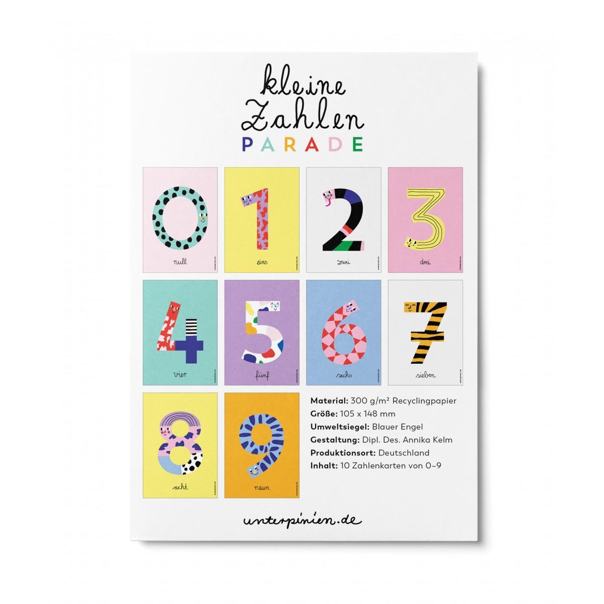 Kleine Zahlenparade - Kartenset
