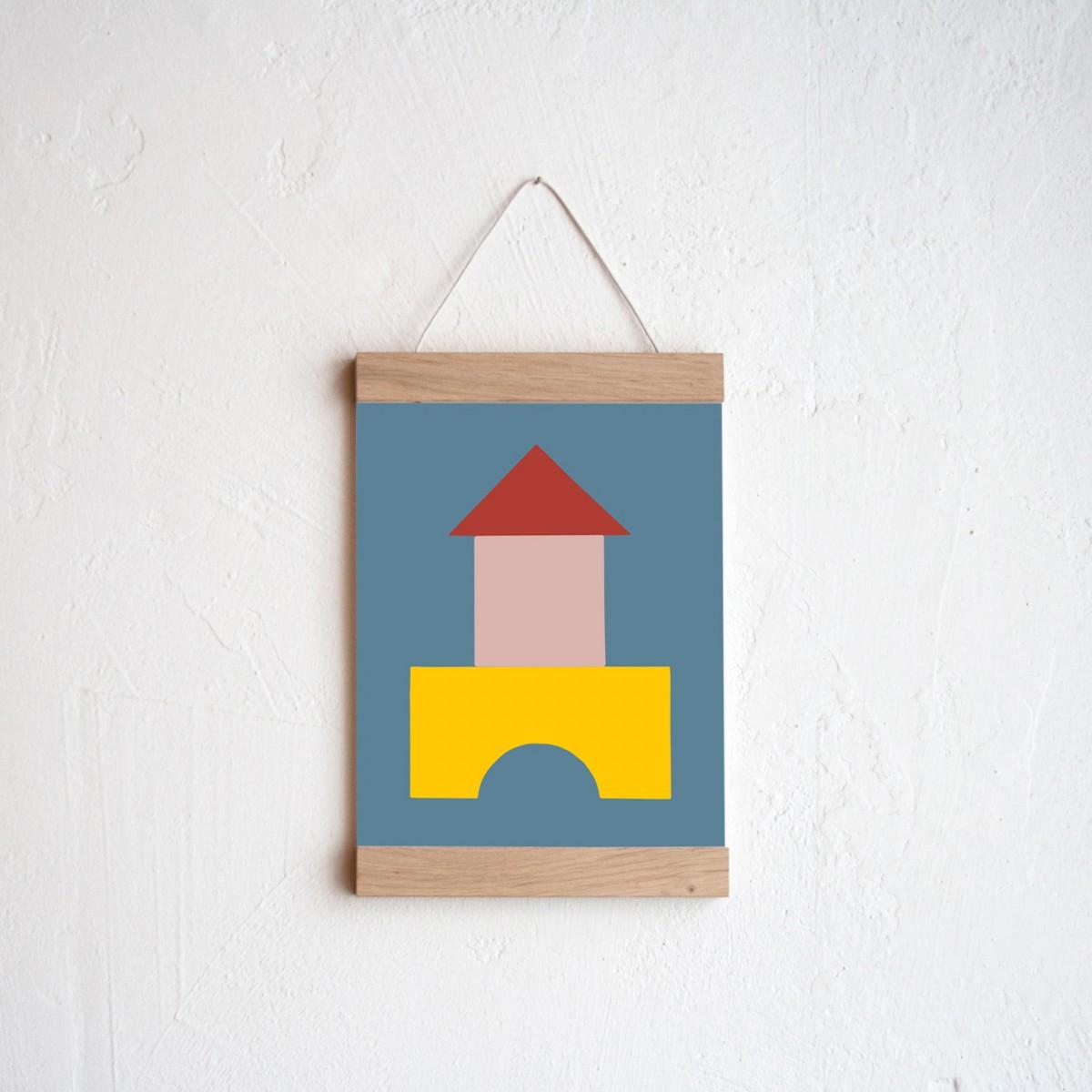 Bauklotz Poster #1 + Posterleiste Eiche A5