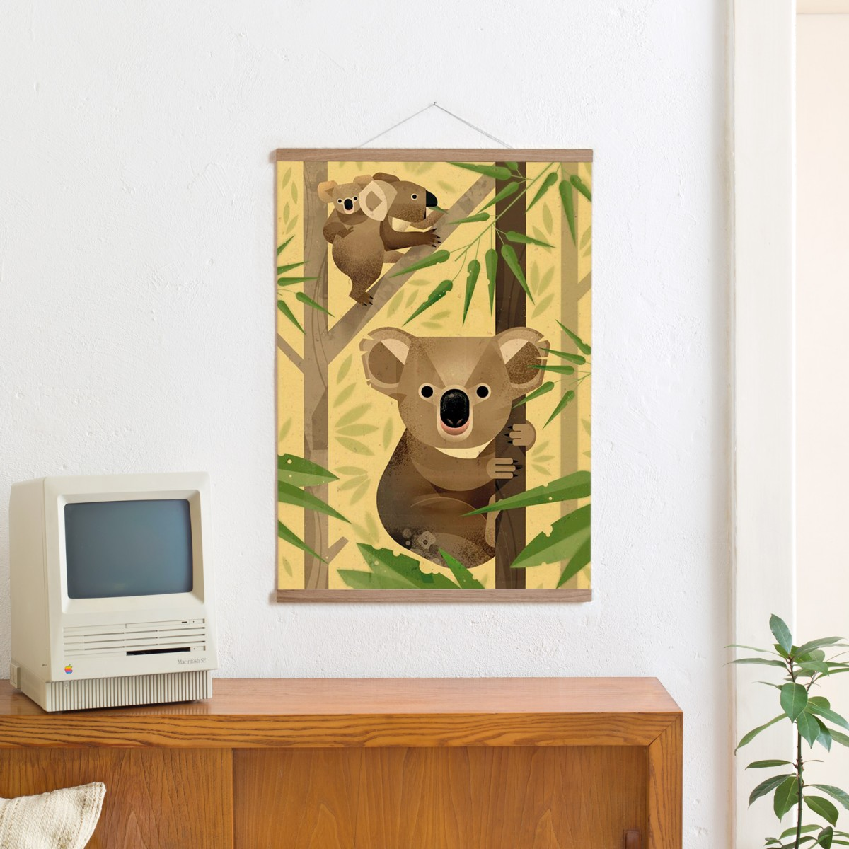 KLEINWAREN / VON LAUFENBERG Set / Koala + Posterleiste Eiche 50 cm