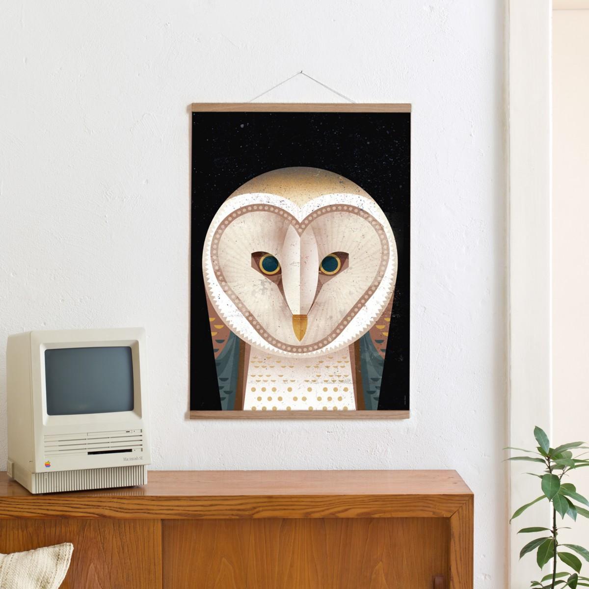 KLEINWAREN / VON LAUFENBERG Set / Barn Owl + Posterleiste Eiche 50cm