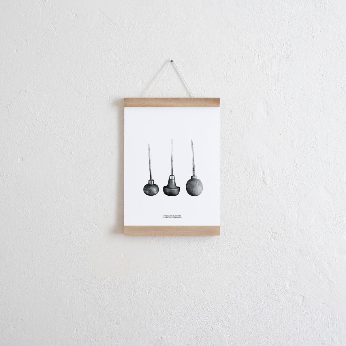 Set / Stichel Wendeposter + Posterleiste A4