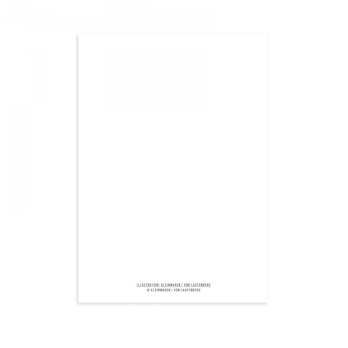 KLEINWAREN / VON LAUFENBERG Postkarte Eiermann