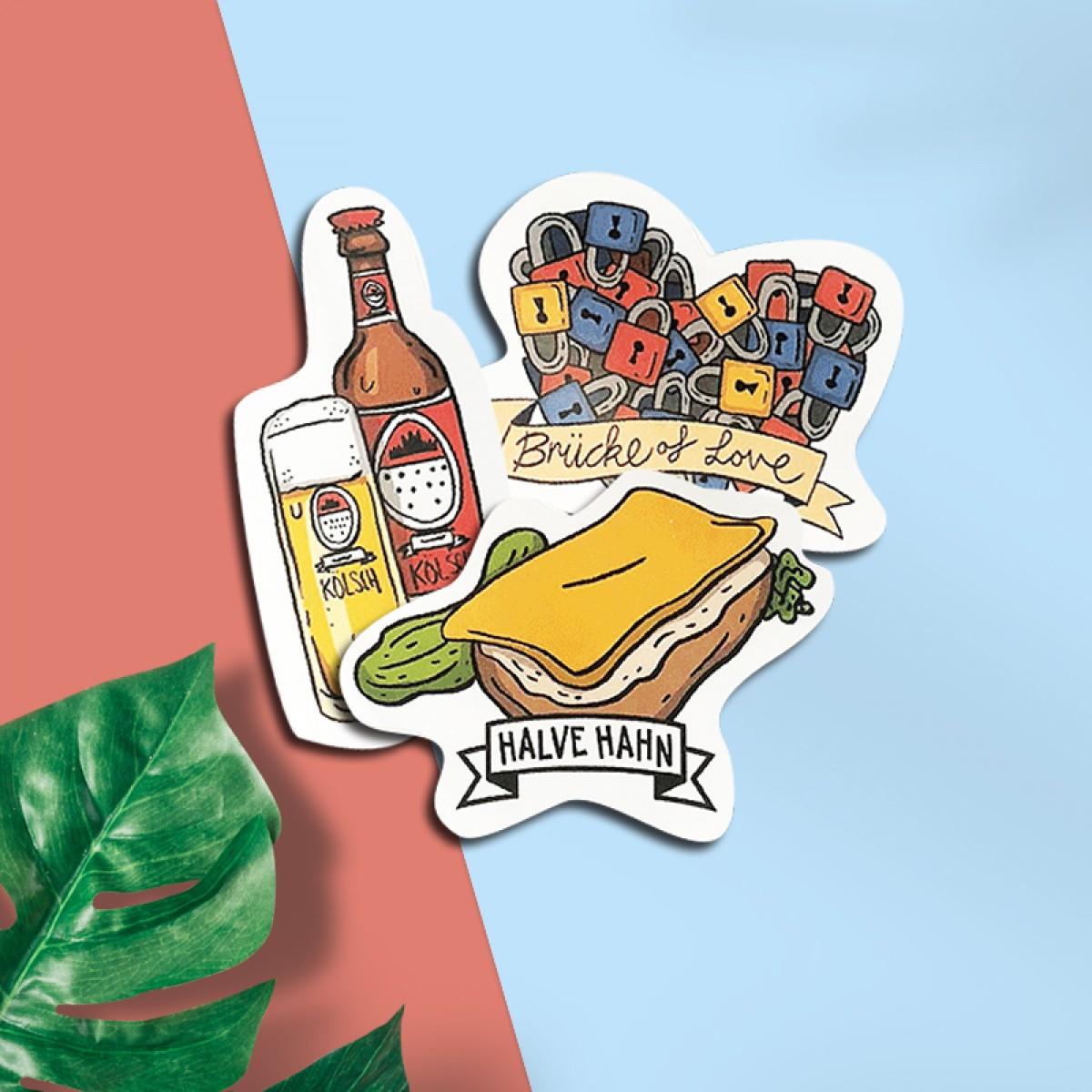 Stadtliebe® | Köln Stickerbogen