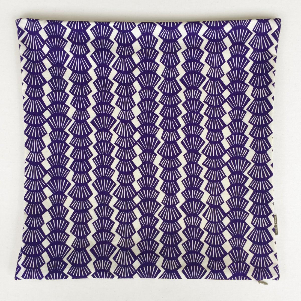 Print now - Riot later ● Kissen Shelly violett, Stoffsiebdruck