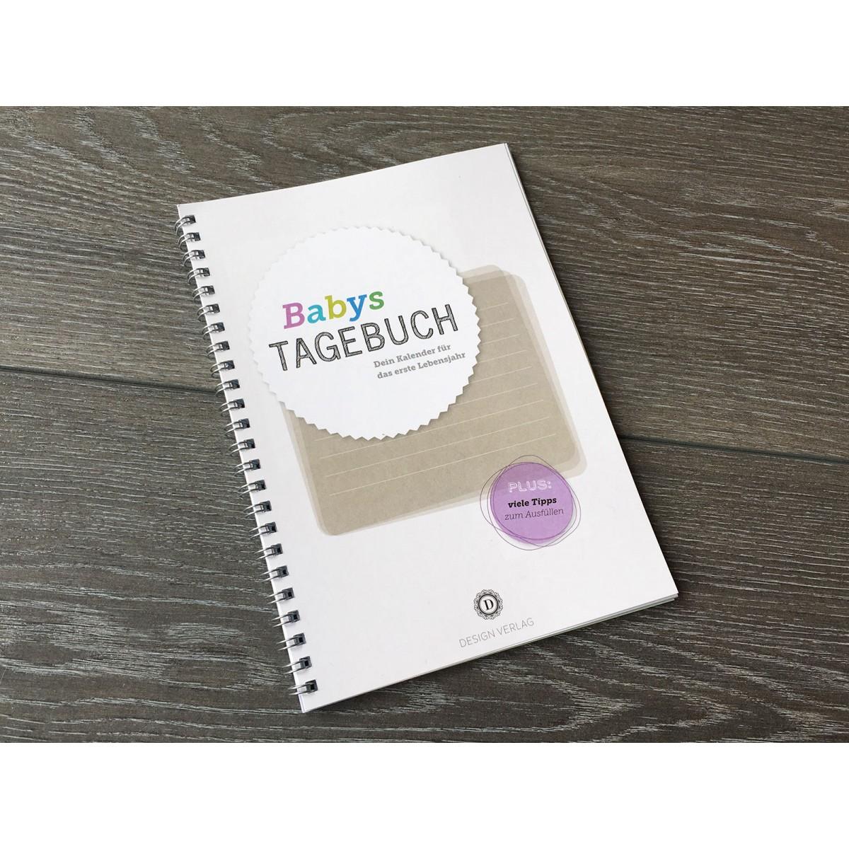 Design Verlag Baby Tagebuch | Baby Kalender zur Geburt