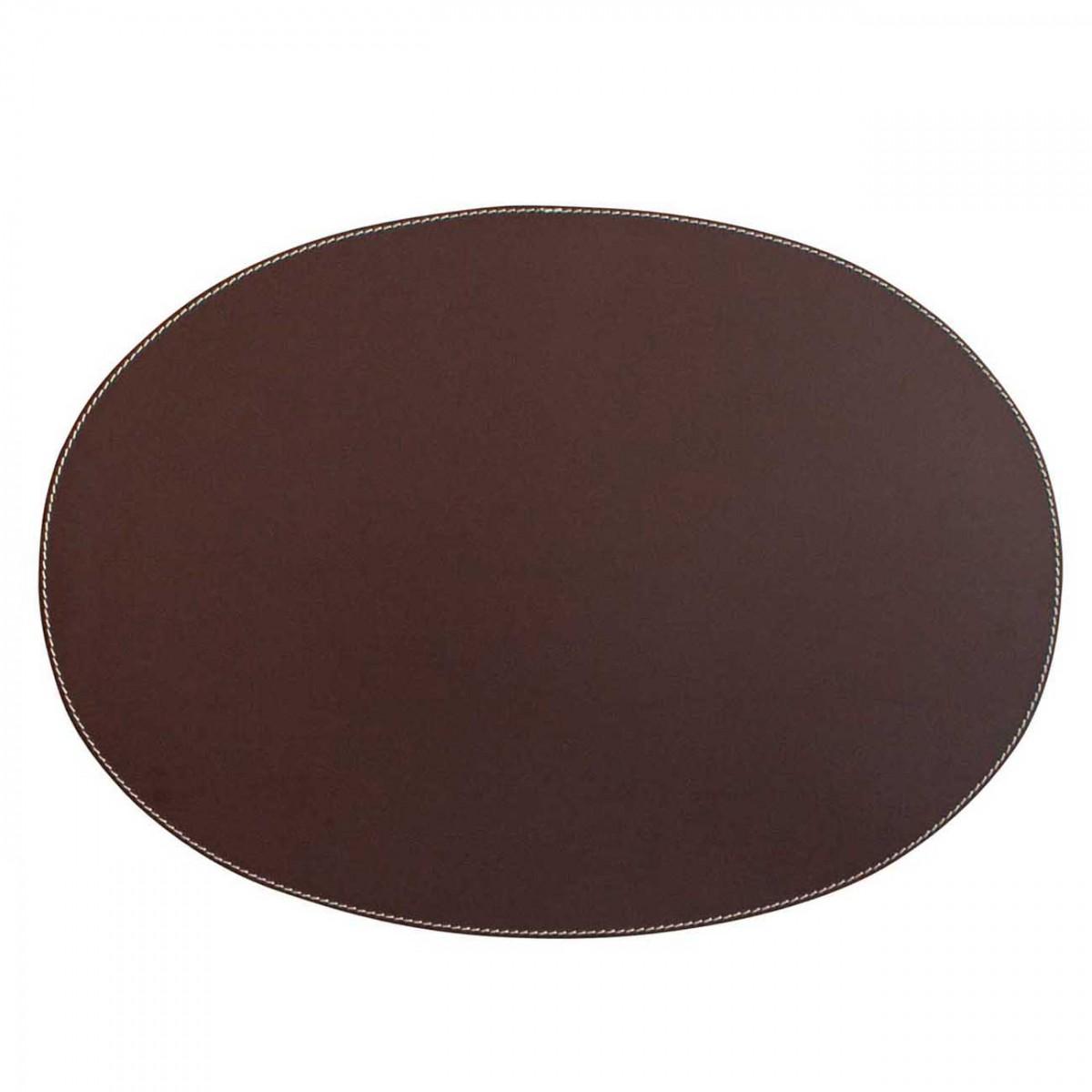 adorist. -Leder Tischset, Lederunterlage, oval, braun