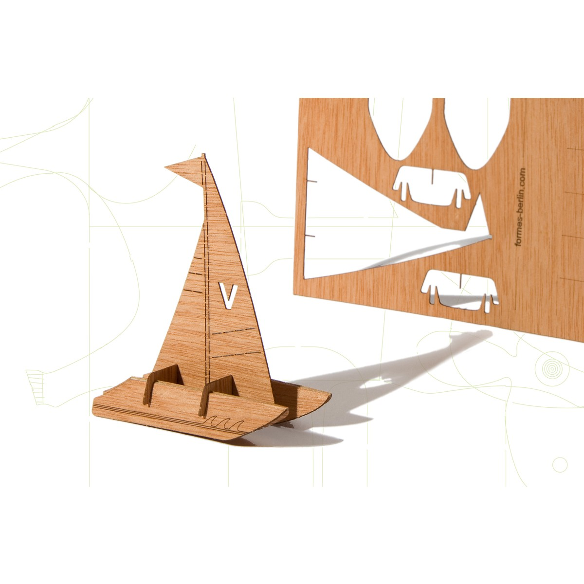 formes Berlin Katamaran-Karten - 6 Postkarten aus Holz
