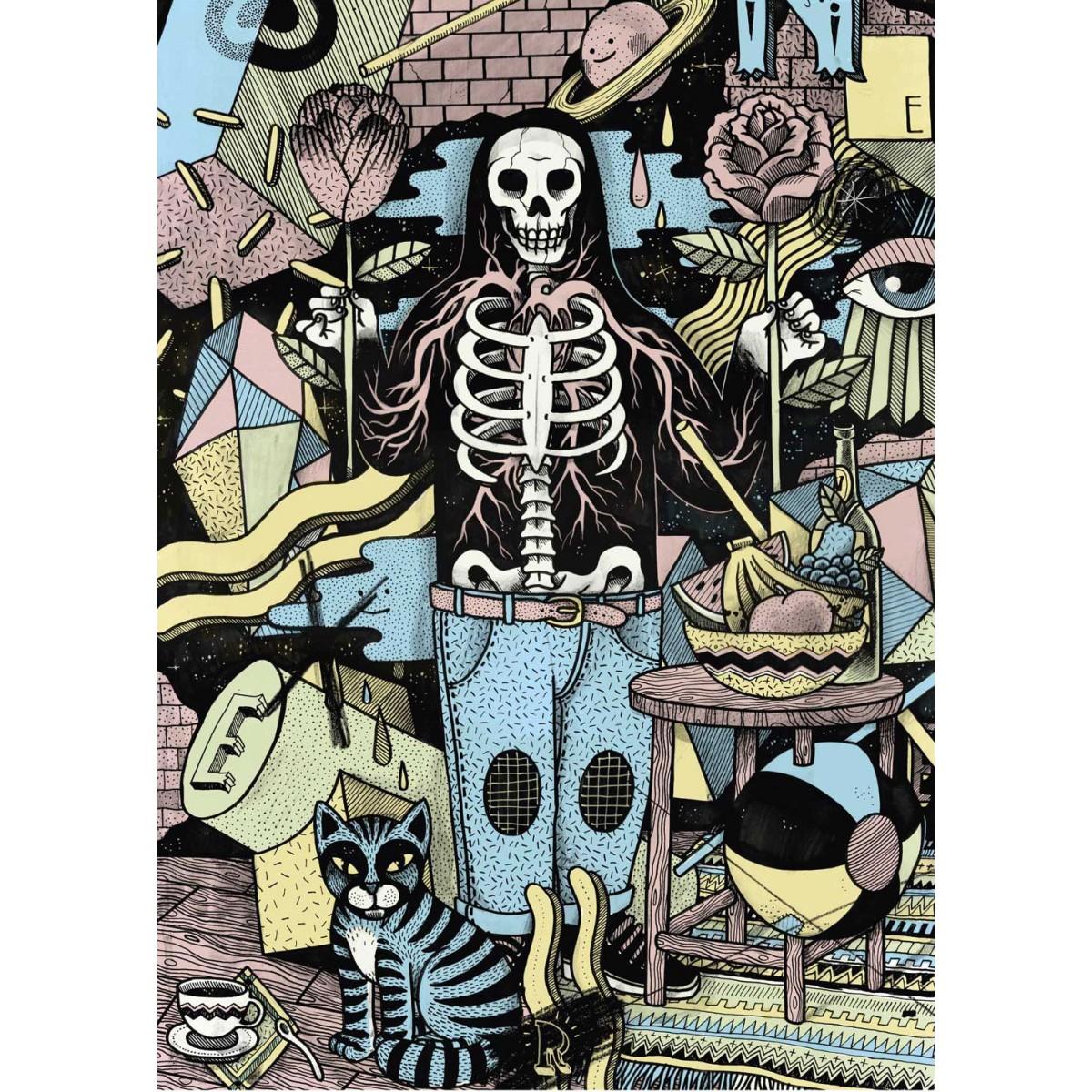 Poster »Kater Gothics« 50x70cm, Illustration von Martin Krusche