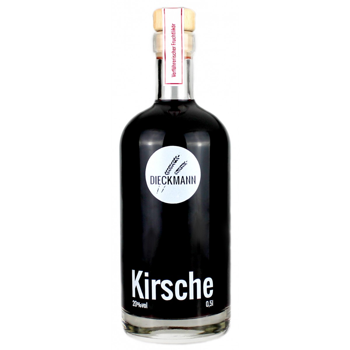 Weizenbrennerei & Likörmanufaktur Dieckmann Kirsche - Fruchtlikör LIKÖR 20%vol., 0,5l
