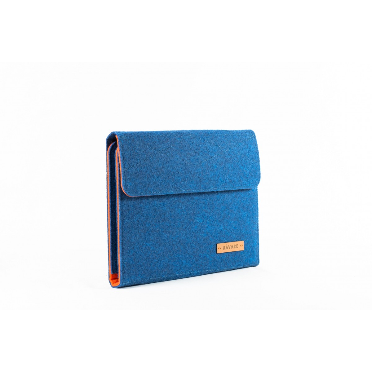 RÅVARE Tablet Organizer für kleine und mittlere Tablets ≤10.1″ mit vielen Stecklaschen, iPad, Samsung in blau-orange [KOCO M]