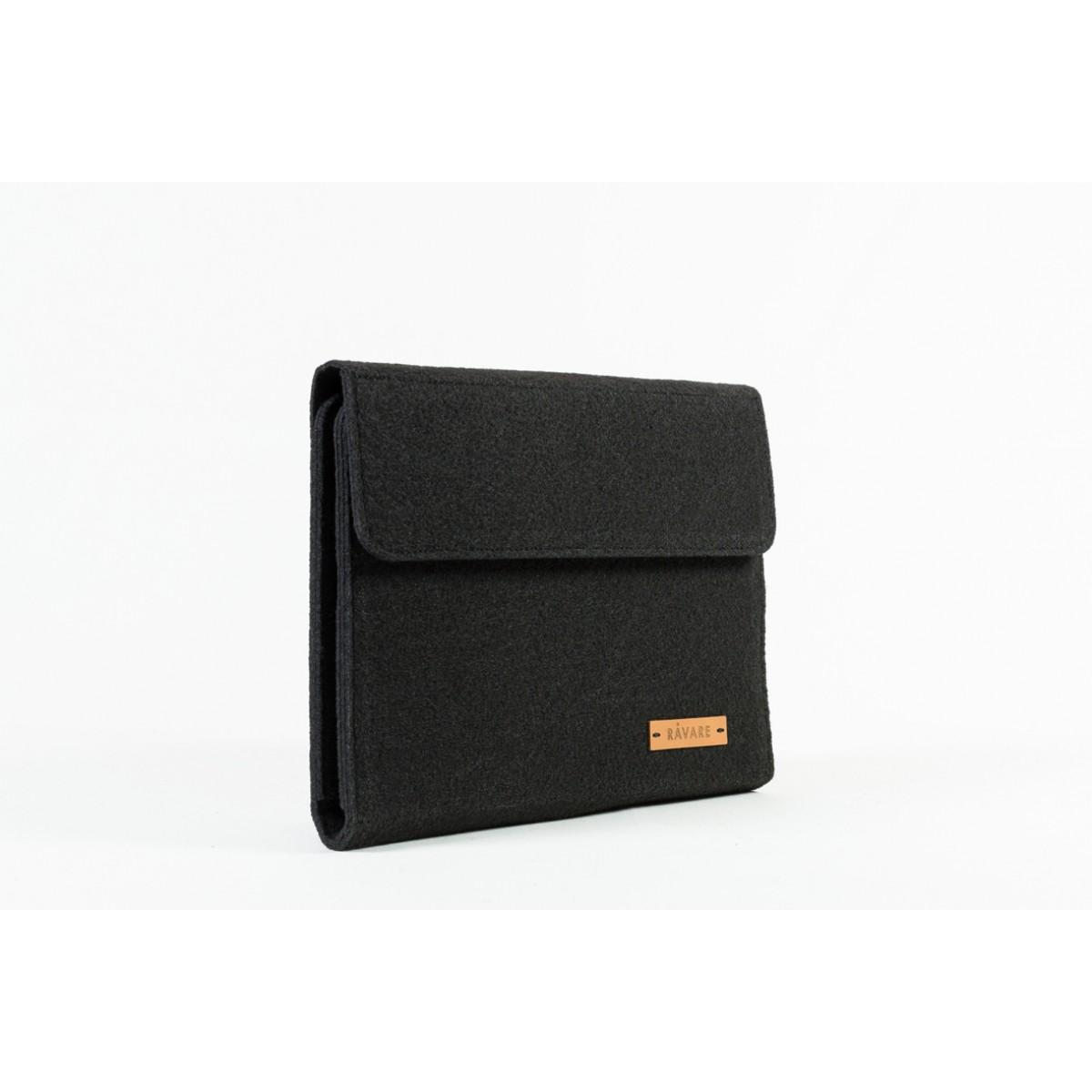 RÅVARE Tablet Organizer für kleine und mittlere Tablets ≤10.1″ mit vielen Stecklaschen, iPad, Samsung in schwarz [KOCO M]