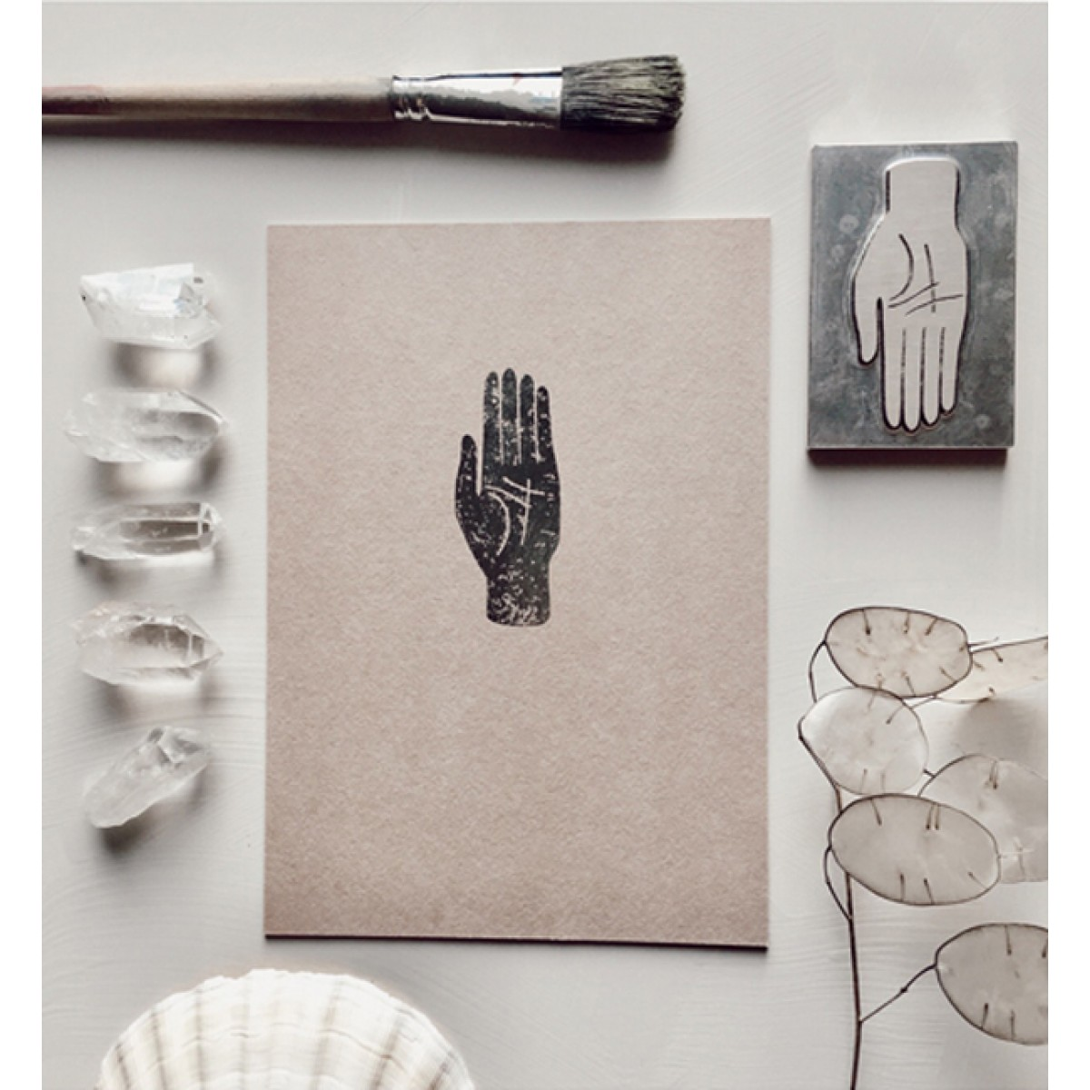 MAP OF THE HAND - A5 Print - Letterpress – Anna Cosma