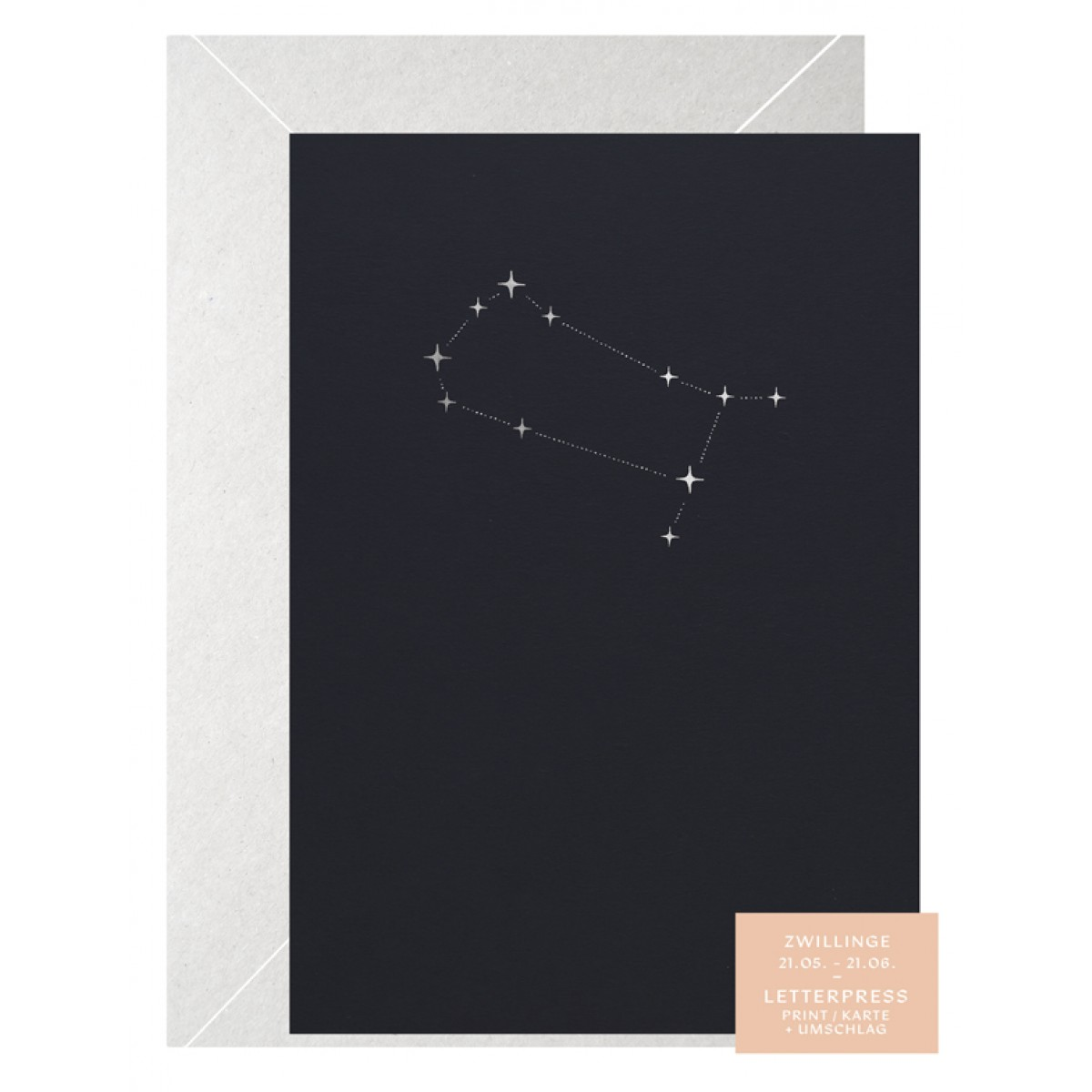 ZWILLING STERNZEICHEN - A5 Print - Letterpress – Anna Cosma