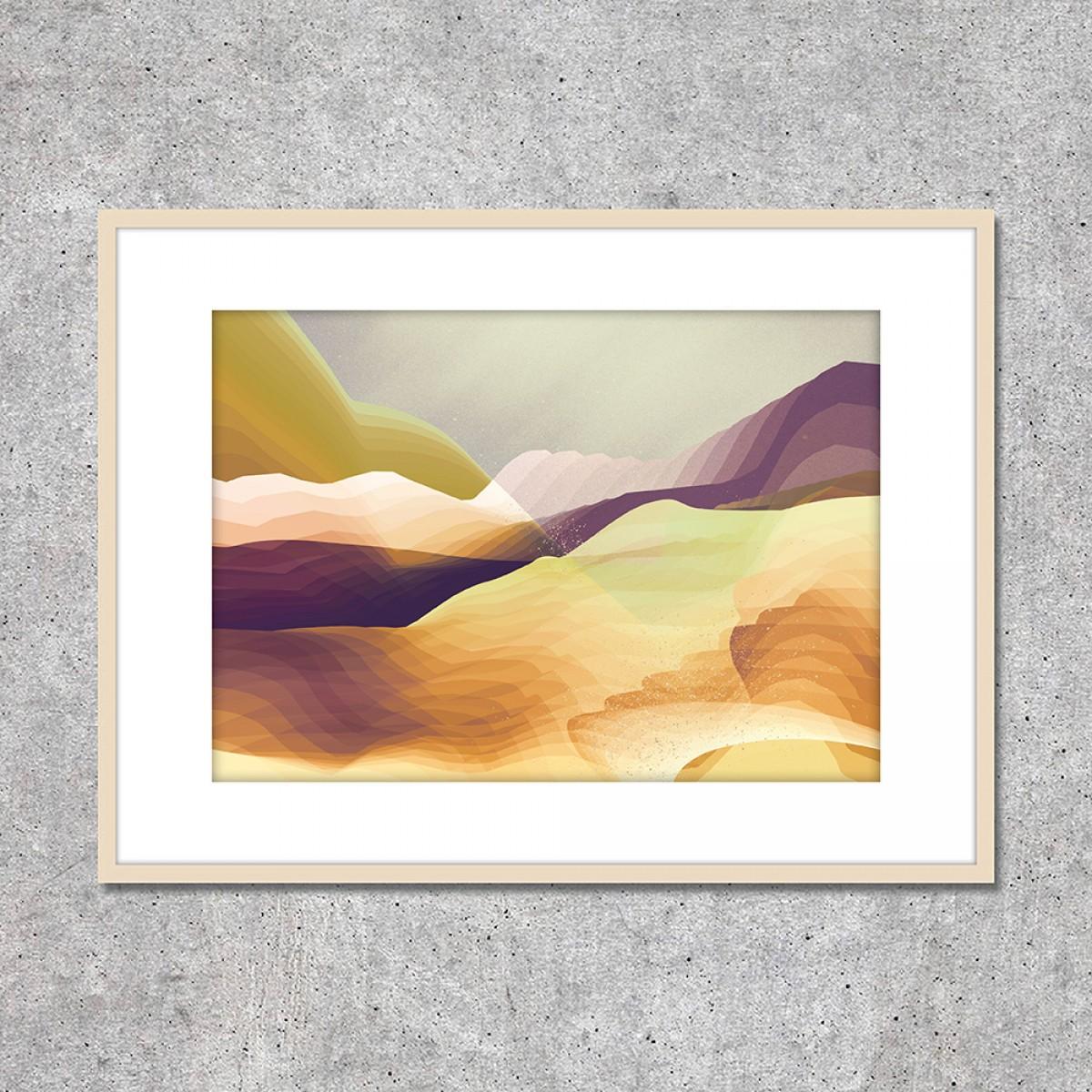 """Look at me! Fine Art Print """"Seven Hills"""" (DIN A2)"""