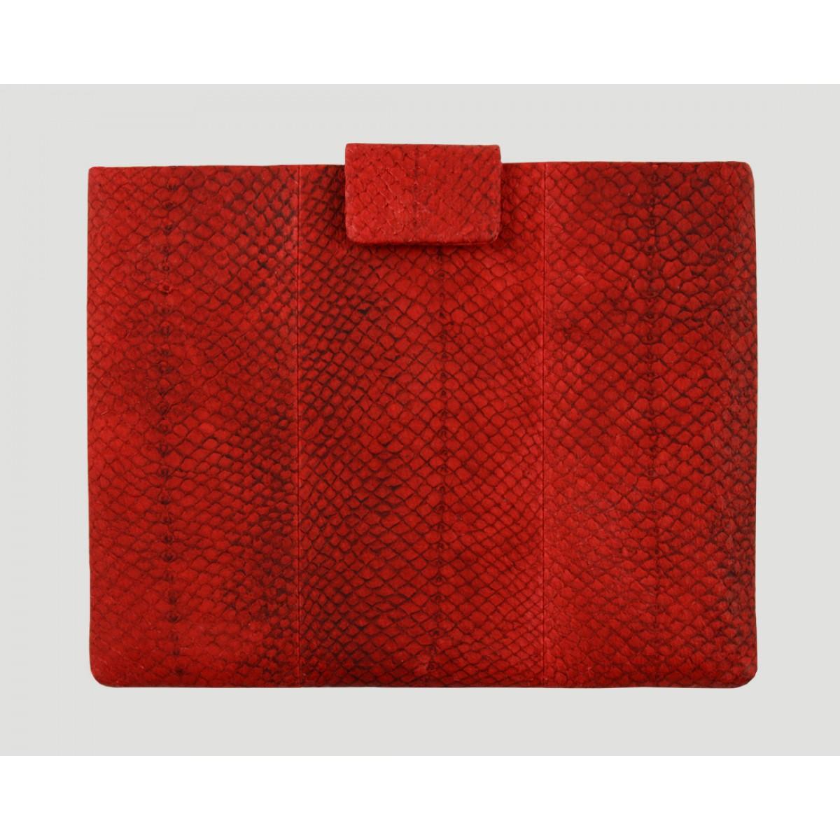 Lapàporter iPad case Lachsleder (rot)