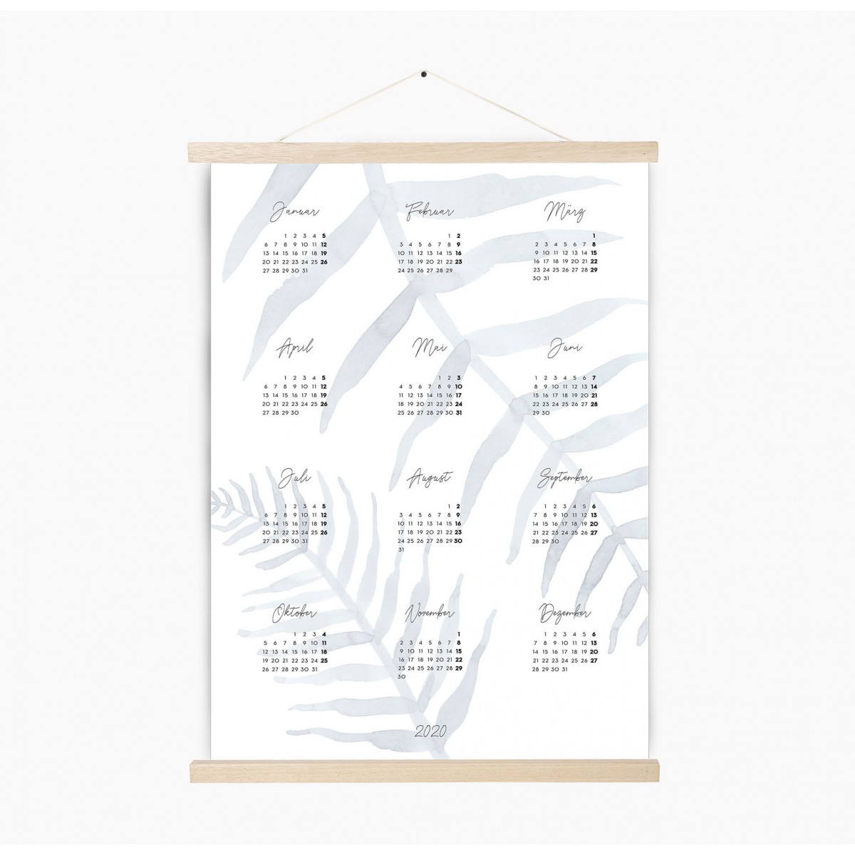 Kruth Design KALENDER 2020 / LEAF